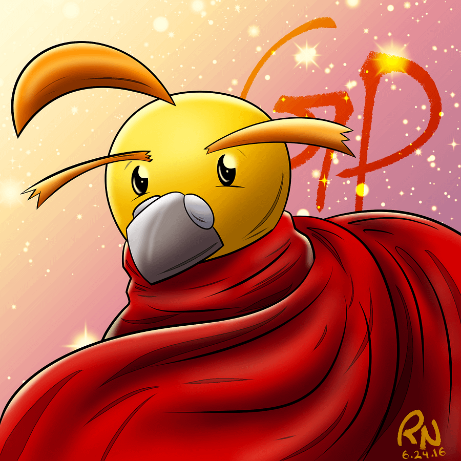 A painting of Golden Pigeon from Rhunn!